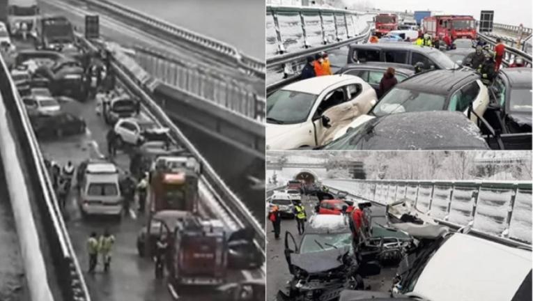 В Италии произошла авария с участием 29 машин. Среди ...